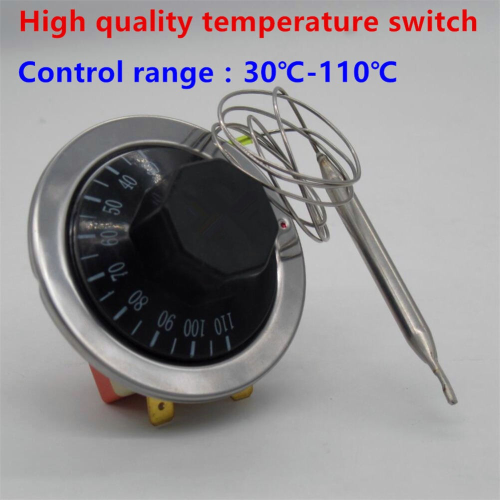 Thermostat AC220V 16A Dial Temperature Control Switch sensor for ...