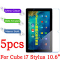 """Para CUBE i7 Limpar Glossy Matte Macio Nano Anti-Explosão 10.6 """"para Cube i7 Stylus Tablet PC Película Protetora (não de Vidro Temperado)"""