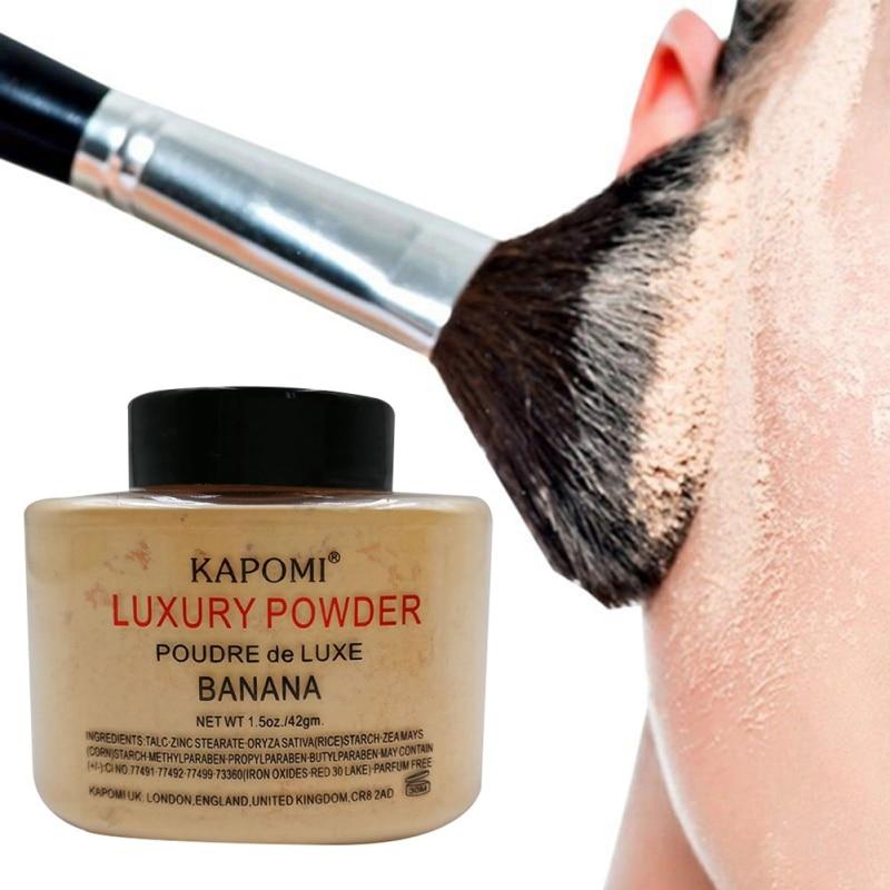 Foundation Highlighter Oil-Control Makeup Face-Powder Whitening Banana Beauty Women Luxury