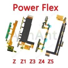 For Sony Xperia Z Z1 Z2 Z3 Z4 Z5 Compact Premium Plus Original Power Flex Volume Side Key Button Microphone Ribbon Flex Cable