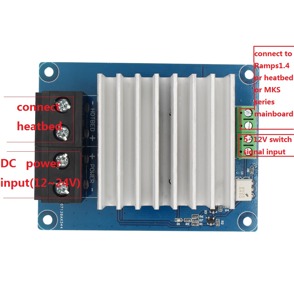 online buy whole 3d printer parts from 3d printer parts 3d printer parts heating controller mks mosfet for heat bed extruder mos module exceed 30a