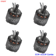 4pcs EMAX MT2212 II rc outrunner motor 900kv brushless quadcopter multi axis copter 3mm shaft for drone helicopter parts