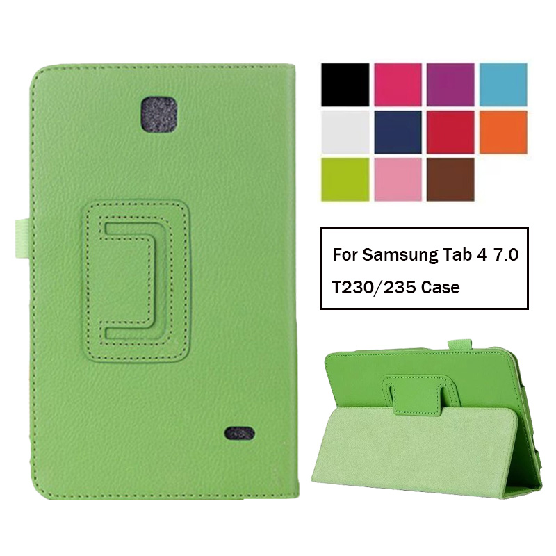 Case For Samsung Galaxy Tab 4 7.0 T230 T231 T235 Leather Case Cover For Samsung Tab4 7.0 SM-T230 SM-T231 Case
