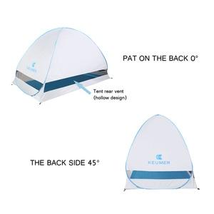 Image 4 - KEUMER автоматический пляжный тент с защитой от ультрафиолета, 2 человека, палатка для кемпинга, Мгновенный Всплывающий Открытый Анти УФ тент, тенты для улицы, солнцезащитный тент