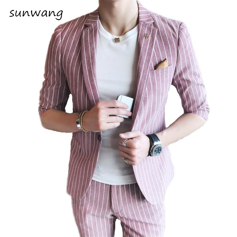 Slim Fit Double Breasted Suit Promotion-Shop for Promotional Slim ...