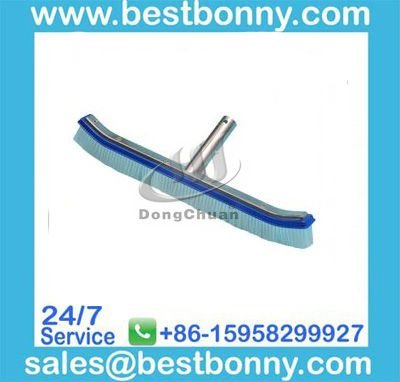 """Swimming Pool Products-18""""Deluxe Wall Brush with polished Aluminum Back"""
