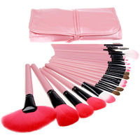 24 Pcs Portable Makeup Brush Sets Makeup Tools Eye Shadow Brush Nose Brush Foundation Brush