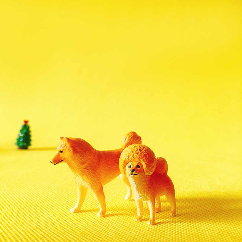 sale~1Pcs yellow dog/fairy garden gnome/moss terrarium decor/crafts/bonsai/bottle garden/home table decor/figurine/diy supplies/