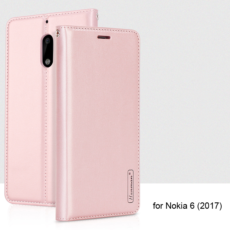 For Nokia 6 5 3 Flip Magnetic Stand Wallet Case for Nokia 3 5 6 Coque Leather Shell Skin Cover with Lanyard + Card Slots 2017