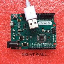 5pcs 2016 version Leonardo R3 development board Board + 1 meter USB Cable compatible for arduino