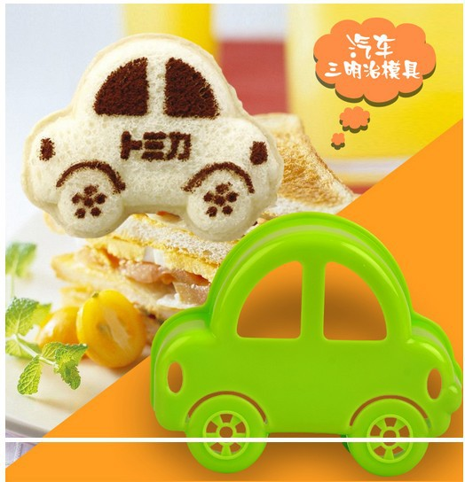 Free Shipping Cute Car Shape Plastic Bread Toast Cutter Sandwich