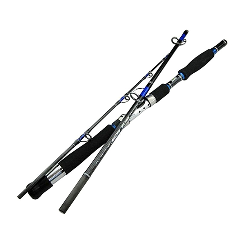 1.8m 1.95m 2.1m 2.28m Carbon Jigging Rod Spinning Boat Trolling Fishing Rod 3 Sections Lure 70-250g Hard Power Ocean Fish Pole