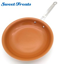 Sweettreats Non-stick Copper Frying Pan with Ceramic Coating and Induction cooking,Oven & Dishwasher safe 10 Inches(China)