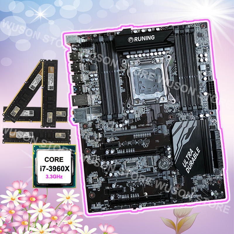 Motherboard CPU RAM bundle Runing X79 motherboard with 8 RAM slots Intel core i7 3960X 3.3GHz brand new memory 32G(4*8G) 1600MHz маршрутизатор mikrotik ccr1036 8g 2s em cloud core router 1036 8g 2s em with tilera tile gx36 cpu 36 cores 1 2ghz per core 8gb ram 2xsfp cage 8