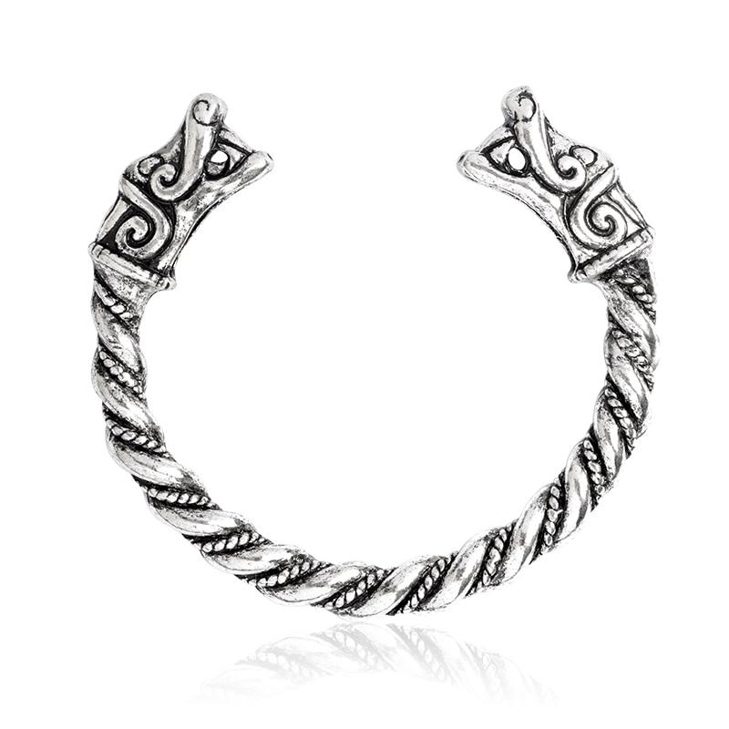 """Браслет для мужчин """"Викинг-Волк"""", античный металлический мифический волк Фенрир языческие браслеты, скандинавские мифологические браслеты, бижутерия в стиле викингов"""
