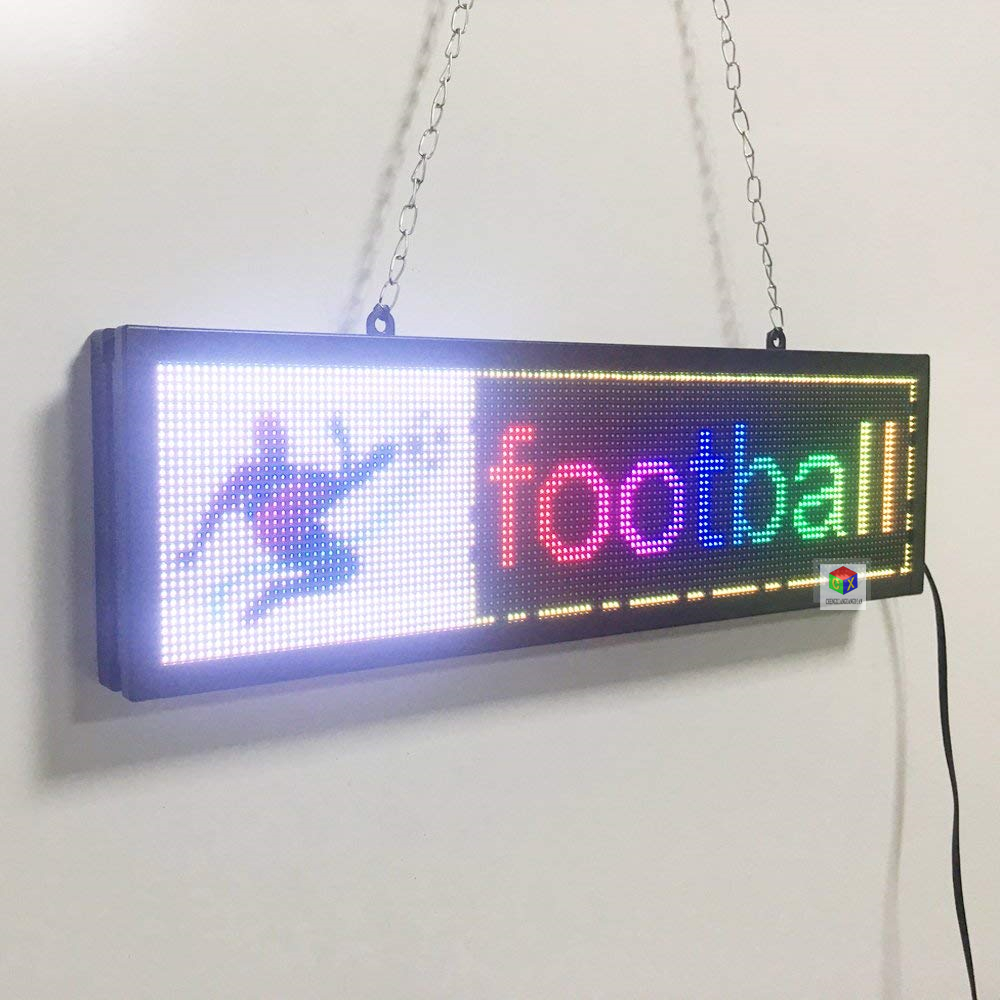 LED Sign Board Programmable Electric Display Text Image Message Board Full Color
