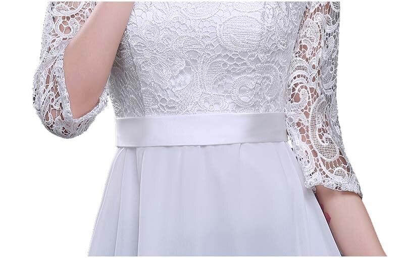 Femmes adultes dames longues occasionnels noir anniversaire robes robe de soirée pour mère de la robe de mariée automne avec manches H2727 - 6