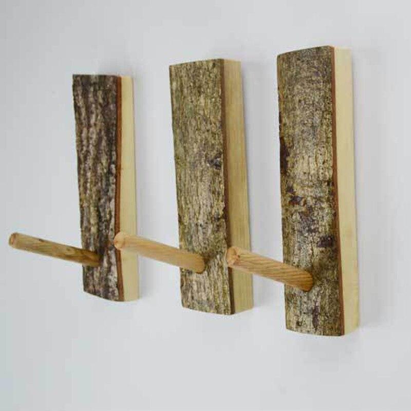 pinjeas rama natural alcanfor woodcoat ganchos ganchos de pared gancho perchero de madera de abedul ructic