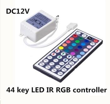 20PCS Led Controller DC12V 44 Key IR Remote RGB Controller 6A For RGB 5050 LED Light Strip