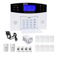 DANMINI Wireless GSM Alarm System Door Sensor PIR Motion Detector Home Security GSM Alarm System LCD