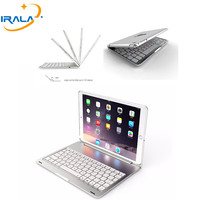 2018 hot Metal High Quality 7 Colors Backlit Light Wireless Bluetooth cover For iPad Pro 10.5 keyboard case + Stylus+ film