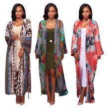 African Dress Hot Sale New Arrival Polyester 2017 Fashion Women's 3 Color Long Sleeved Cloak Fashion, African, Women, Clothing
