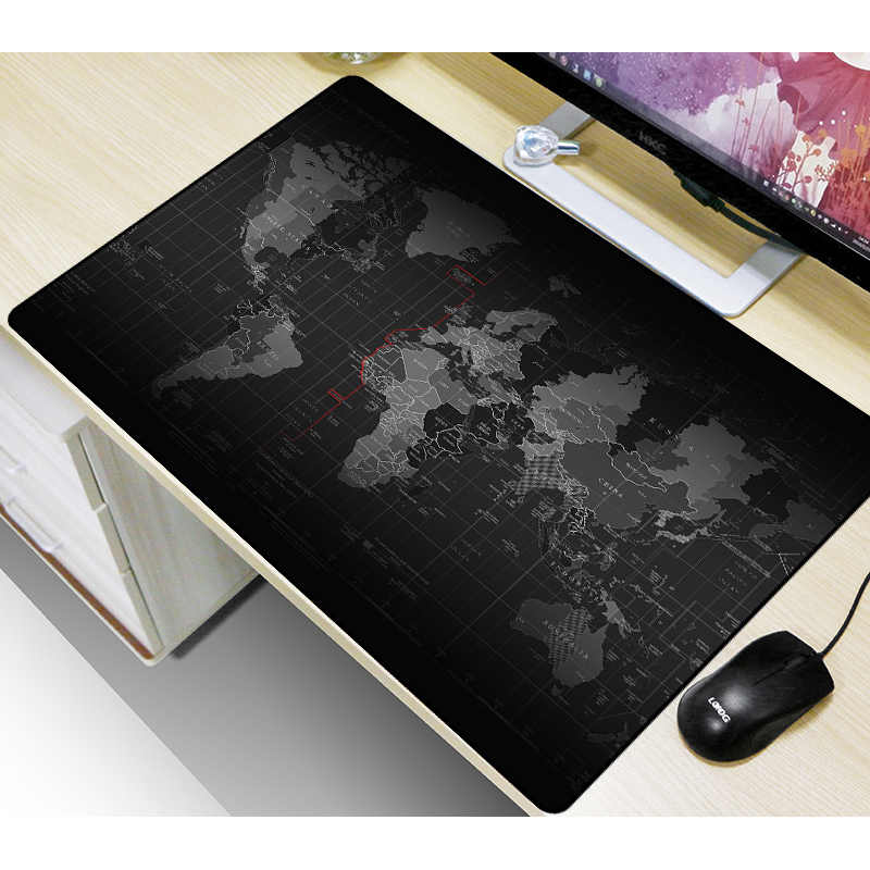 FFFAS خريطة العالم ماوس الوسادة مكتب كبير لوحة ماوس للألعاب دست حصيرة لوحة المفاتيح الطباعة بالليزر لا تتلاشى اختيار حجم متعدد XL