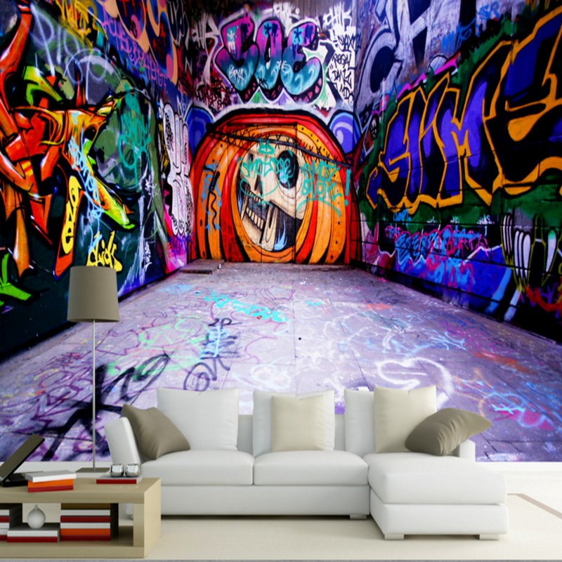 photo wallpaper Modern 3D space graffiti wall paper decorative painting high definition customized mural