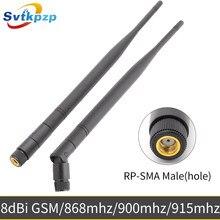 8dBi RP-SMA Conector Macho 900Mhz 915Mhz 868Mhz Antena de Alto Ganho 50ohms 24cm Longo Chicote GSM antenas Antena Universal