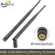 8dBi RP SMA złącze męskie 900Mhz 915Mhz 868Mhz wysoki zysk anteny 50 omów 24cm długi bat GSM anteny uniwersalny z lotu ptaka