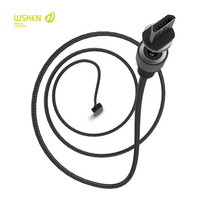 100 High Quality WSKEN Round Magnetic Cable Anti Dust 1M Charging Cable Micro USB Charging Cable