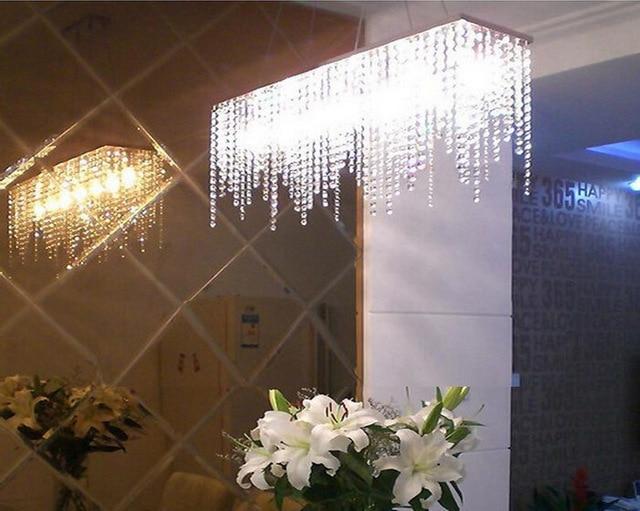 Modern rectangular raindrop crystal chandelier pendant lamp modern rectangular raindrop crystal chandelier pendant lamp lighting fixture for dining room aloadofball Gallery