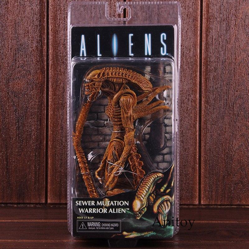 Figuras de acción NECA Aliens Mutation Warrior Alien Doll PVC coleccionable modelo de juguete