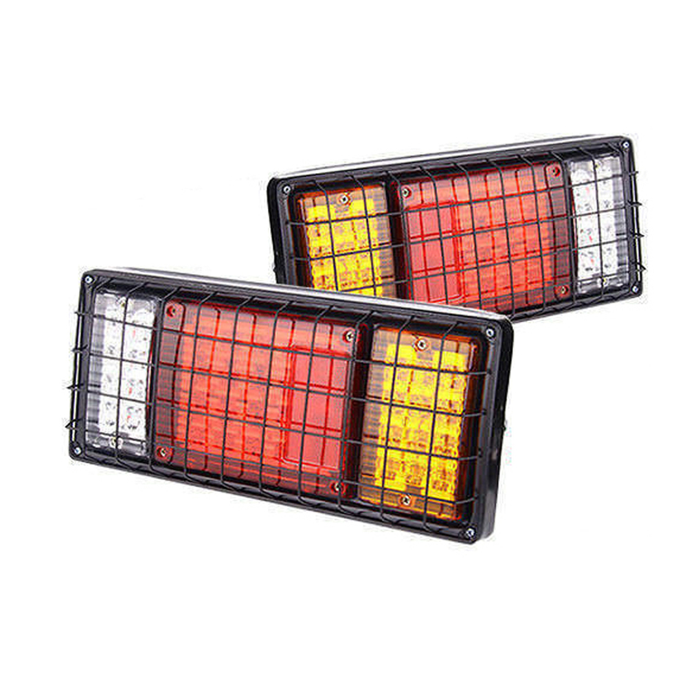 2pcs Trailer Lights LED Stop Rear Tail Brake Reverse Light Turn Indiactor led 12V Truck Led