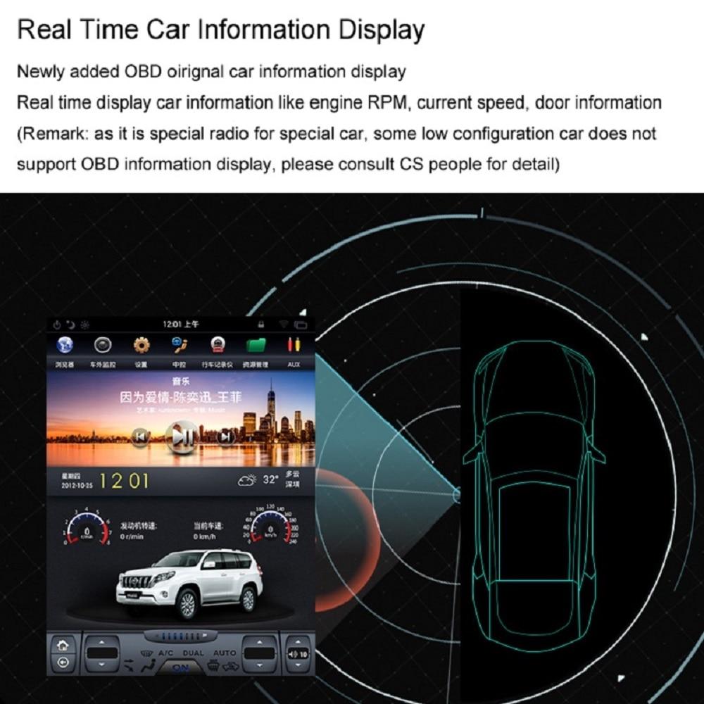 Discount Navirider Android 7.1 radio tape recorder 4-Core 2GB RAM 32GB rom tesla vertical screen for Toyota  Land cruiser 2012 head units 5
