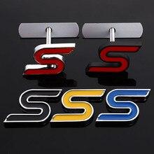 Rejilla delantera de capó de Metal 3D, pegatina emblema para el coche, pegatina para Ford V8 Focus 2012 Kuga Mondeo Fiesta, accesorios de estilismo automático