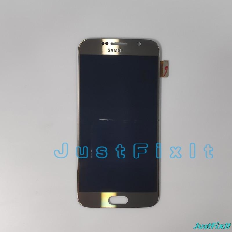 HTB1Xy32S6DpK1RjSZFrq6y78VXaQ 100% Original For SAMSUNG GALAXY S6 G920F G920A Burn-in shadow LCD Display Touch Screen Digitizer  Super Amoled Replacement