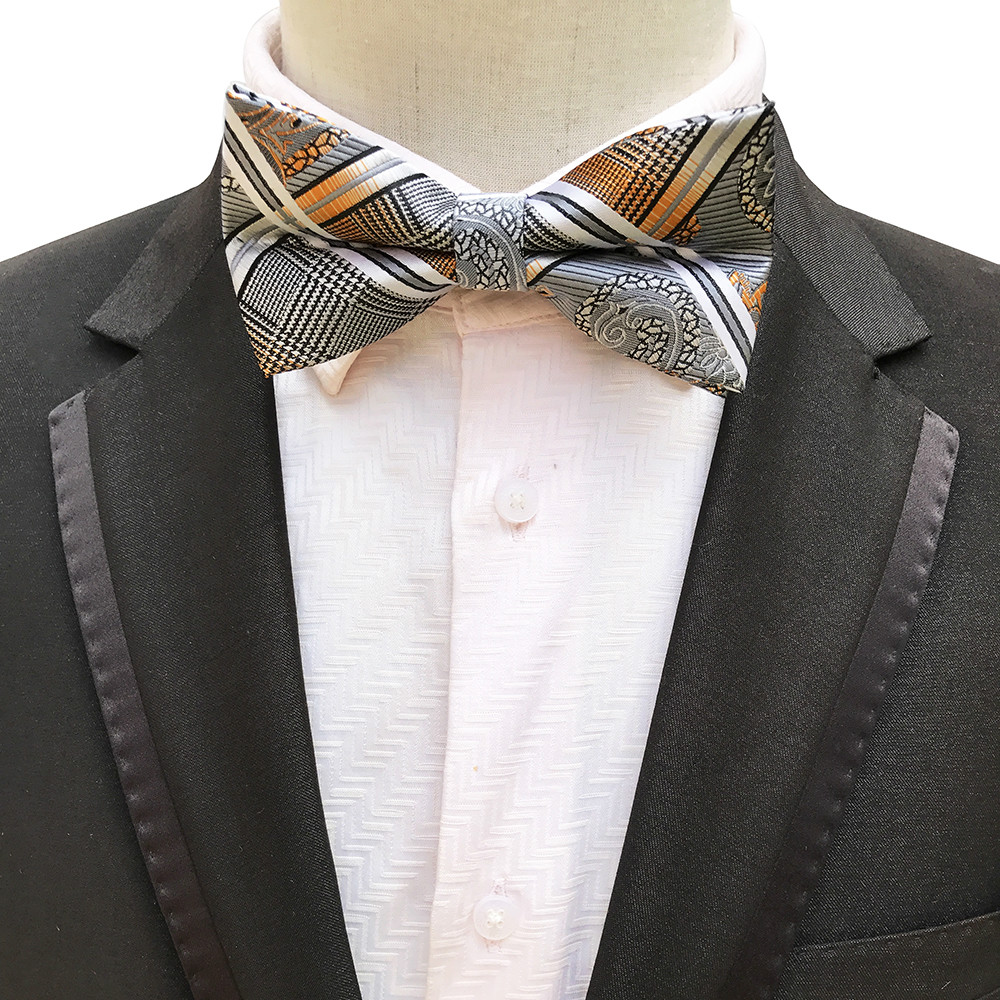 2019 Business Suit Bowknot Bow Ties Cravats Accessories Polyester Men's Bow Tie Brand Classic Plaid Printed Ties Bowtie