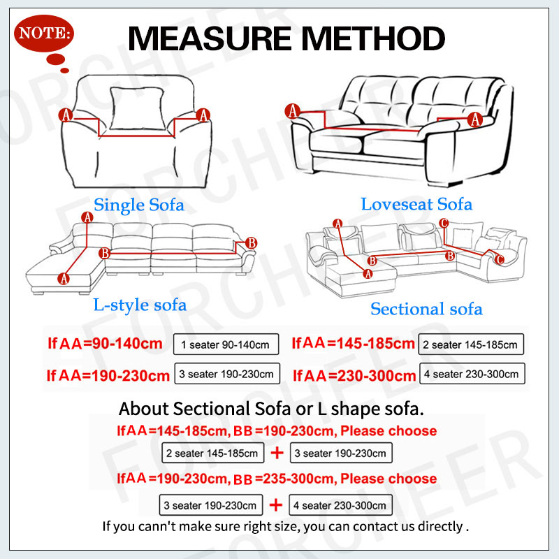 Spandex Sofa Cover with Elastic and Straps for Sectional Couch Suitable for Single to 4 Seated Sofa of Living Room 1