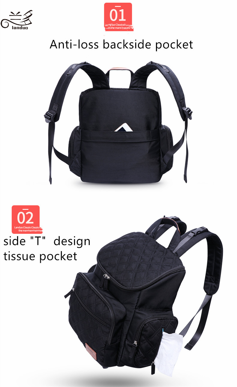 HTB1Xy3ip3KTBuNkSne1q6yJoXXa7 Authentic LAND Mommy Diaper Bags Mother Large Capacity Travel Nappy Backpacks with anti-loss zipper Baby Nursing Bags dropship