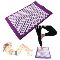 Acupressure Massager Mat Relieve Stress Pain Yoga Mat Natural Relief Stress Body Massage Pillow Cushion