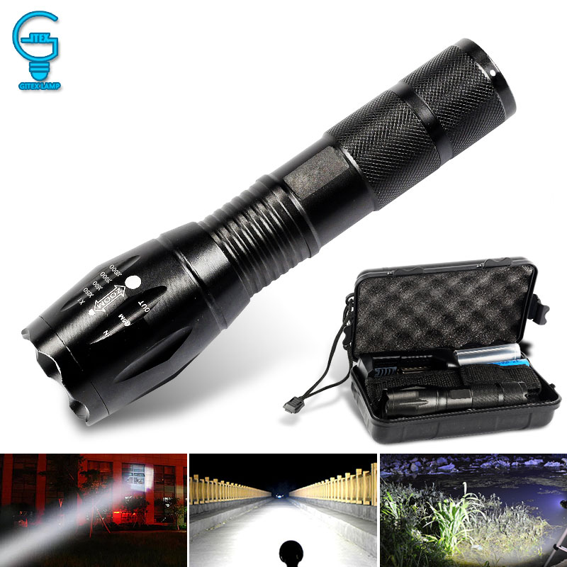 Tactical LED Flashlight Zoomable Lanterna Torch T6/L2 5 Modes Portable Flash Light 18650 Rechargeable Outdoor Camping Tent Light led flashlight 200 meter zoomable led torch light 18650 3 modes waterproof bike lihgt linternas portable tactical flashlight