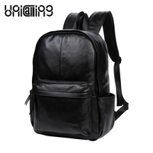 UniCalling men leather backpack men bag casual backpack stylish backpack for men business cool black leather backpack cool robot anime fans gundam backpack zion hero char aznable s custom backpack red and black color for selection ab227