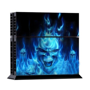 Image 2 - Fire Skull Vinyl Decal Waterproof Sticker for PS4 for Sony PlayStation 4 Protector Cover +2 Stickers for PS4 Controller Gamepad