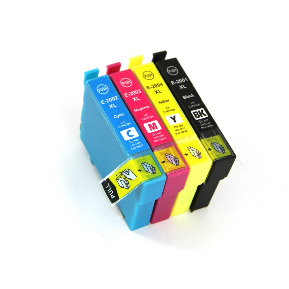 Full Ink 4 PCS Ink Cartridge T2001 T2002 T2003 T2004 XL FOR Epson XP-100 XP-200 XP-300 XP-400 XP-310 XP-410 WF-2510 With chip