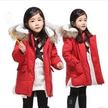 2015 Новая мода зима стиль дети плюс толстые теплые пальто детей куртки для детей дети пуховик для девочки