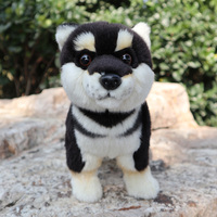 Cute Standing Black Shiba Inu Plush Toy Soft Japanese Dogs Stuffed Animal Kids Toys Birthday Christmas Valentines Gifts