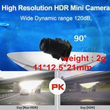 wide dynamic 120dB HDR 1000 TV line mini camera 60 fps drone camera 90 degree CCTV camera w/ MIC. 1/3 sensor 1000 tvl camera 2g