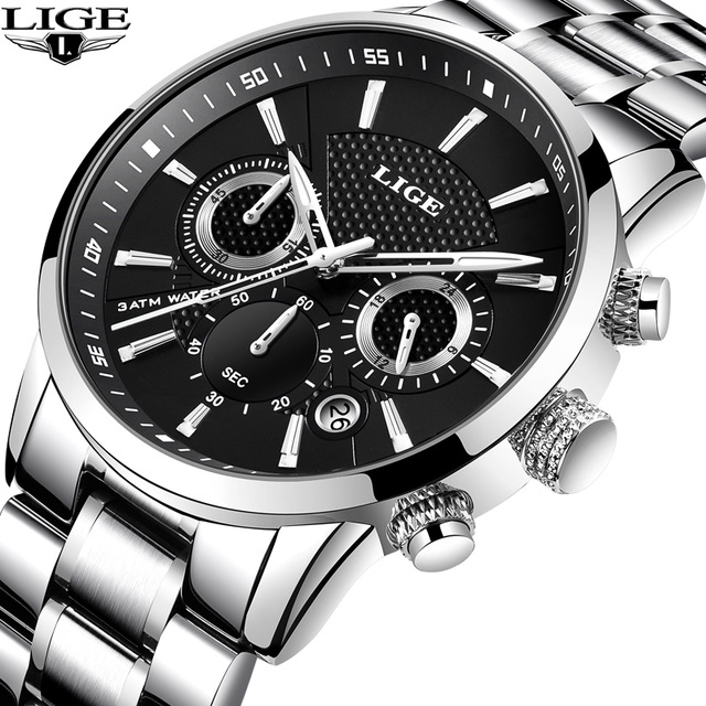 Men's Watch LIGE Top Luxury Brand Men Quartz Watches Business Sport Waterproof Casual Fashion Military Male Clock reloj hombre men watch top luxury brand lige men s mechanical watches business fashion casual waterproof stainless steel military male clock
