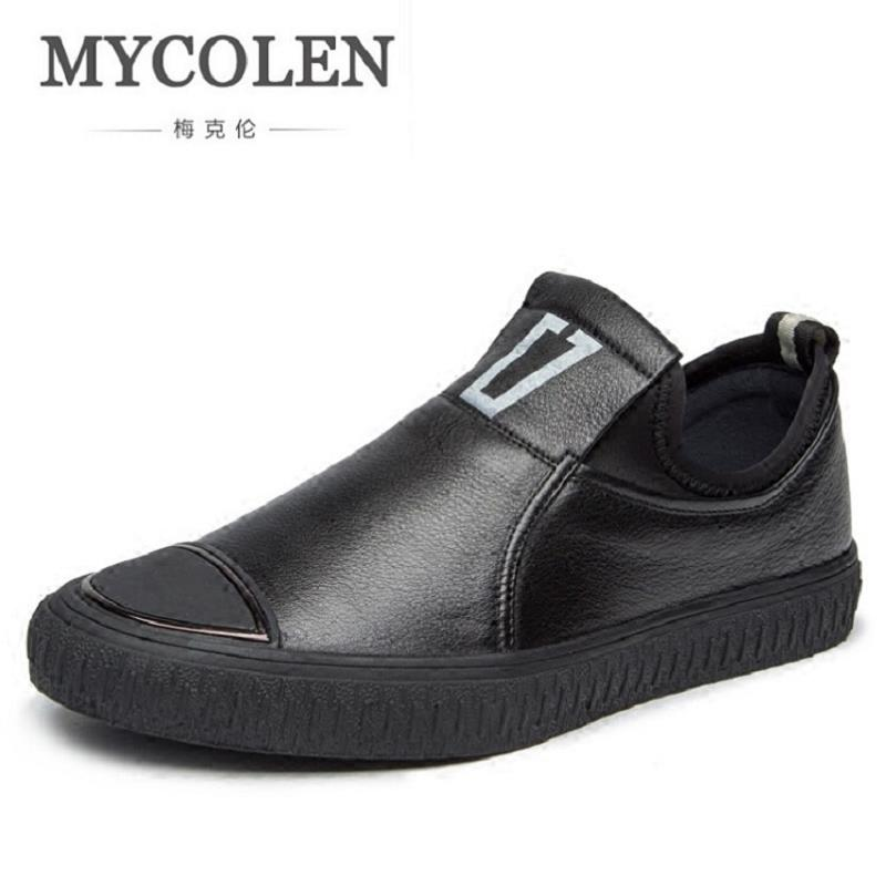 MYCOLEN Handmade Leather Men Shoes Casual Luxury Brand Men Loafers Fashion Breathable Driving Shoes Slip On Flat Moccasins wonzom high quality genuine leather brand men casual shoes fashion breathable comfort footwear for male slip on driving loafers